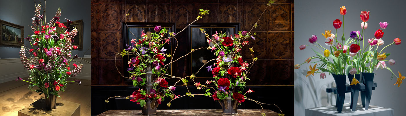 Flower display at the Frans Hals Museum