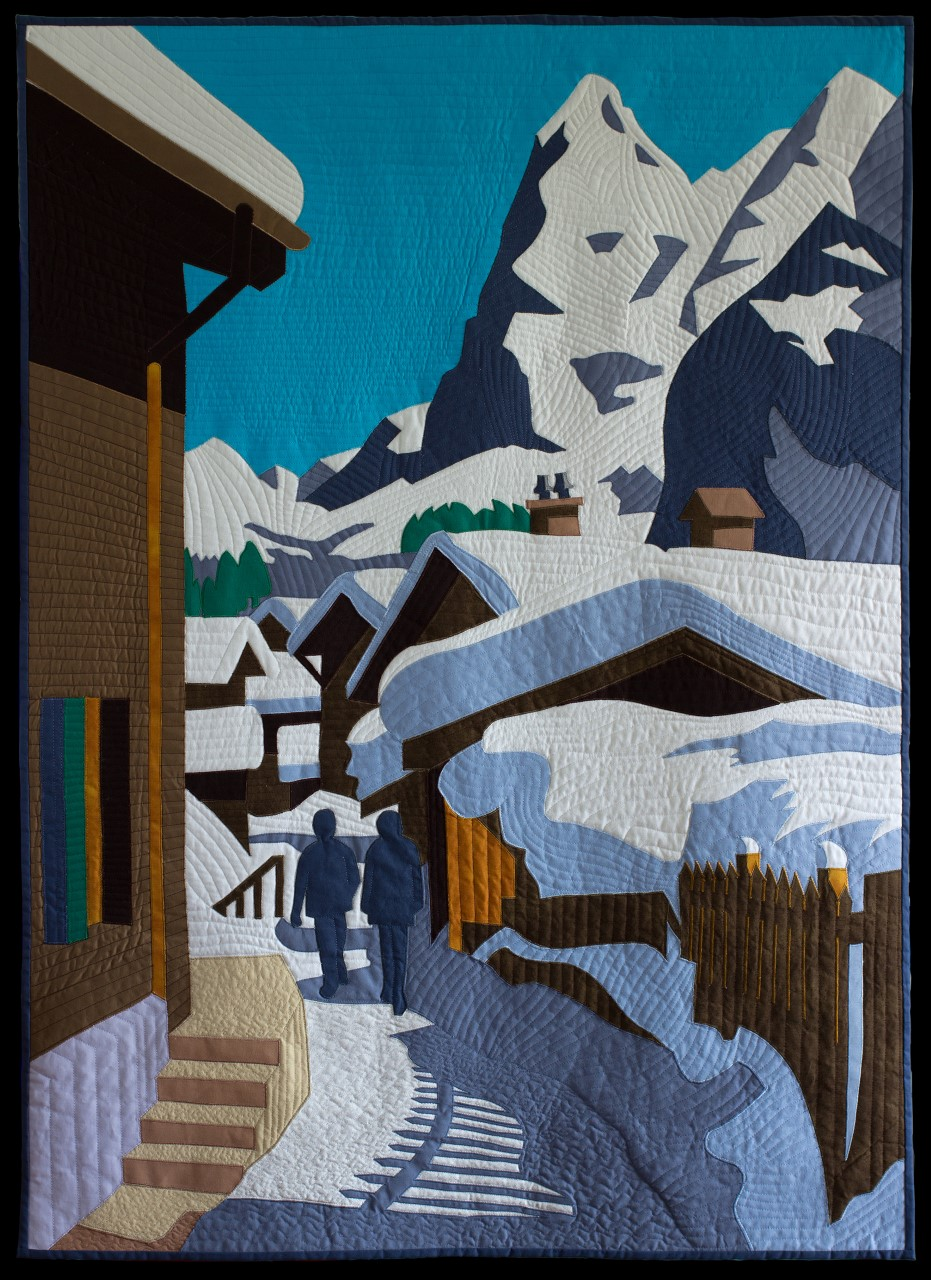 View of the Alps quilt