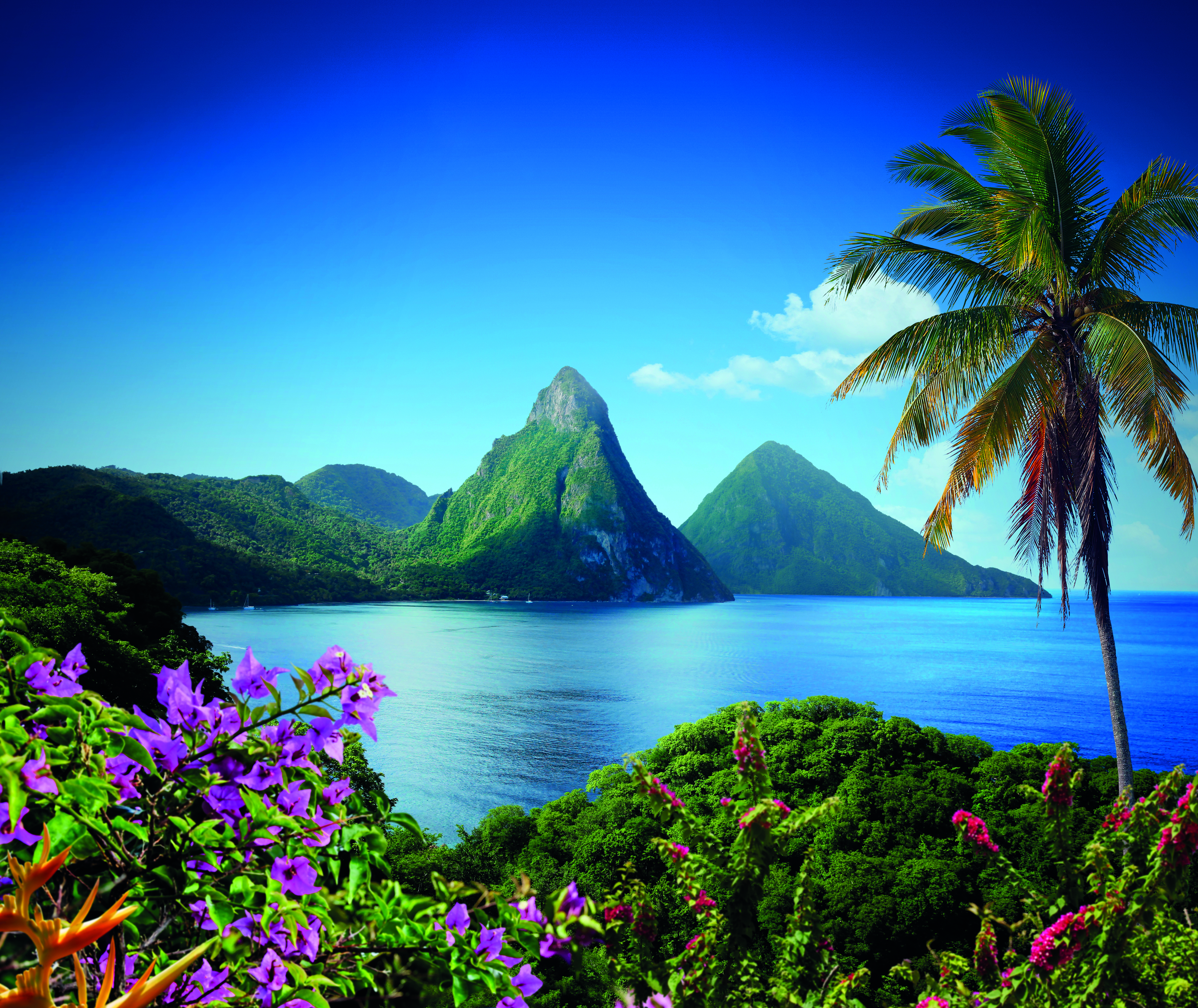 Twin Piton Peaks St Lucia