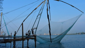 Fishing Nets of Cochin in Kerala in Southern India